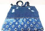 Джинсовые сумки (голубой)35*38, фото 3
