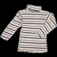 Детский гольф в полоску, плотный трикотаж с начесом, Китай, р.80,86