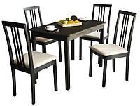 Комплект Парма (стол+4 стула) венге BELEN бежевый.