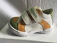 Кроссовки для мальчика зелёные с жёлтым Шалунишка р.20