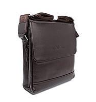 Сумка мужская малая кожаная планшет коричневая Giorgio Armani 7911-1, фото 1
