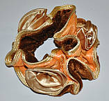 Велюрові гумки для волосся з трояндочками (12шт), фото 4