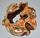 Велюровые резинки для волос с розочками (12шт) , фото 4
