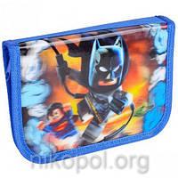 """Пенал школьный """"SMILE - Lego Супергерои"""" с 3D рисунком, 19,5х13х3,5см."""