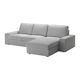 IKEA, KIVIK, 3-местный диван, с шезлонгом, светло-серый (79011411)(S790.114.11) КИВИК ИКЕА