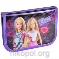 """Пенал школьный """"SMILE - Барби Kiss"""" с 3D рисунком, 19,5х13х3,5см."""
