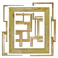 """Рамки под покраску """"эконом"""", волнистые  шириной 40мм. Размер, см 17*17"""