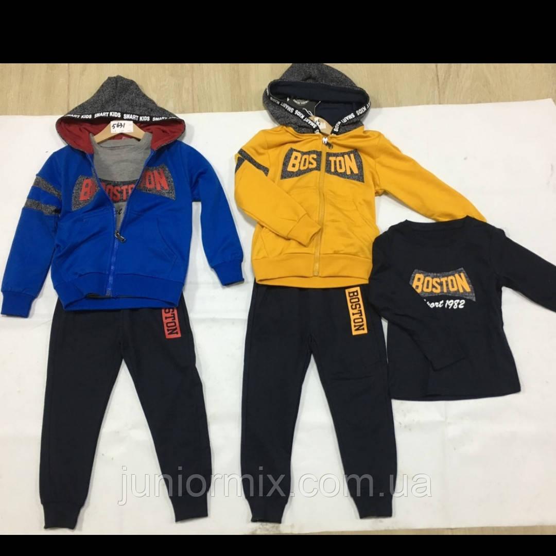 Трійка дитячий трикотажний спортивний костюм для хлопчиків оптом F&D