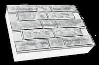 Фасадные термопанели на пенополистироле белые Колотый кирпич 500*500 50мм (35кг/м2)