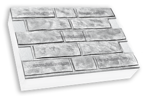 Фасадные термопанели на пенополистироле белые Колотый кирпич 600*400 50мм (25кг/м2)