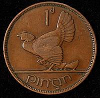 Монета Ирландии 1 пенни 1928 г.
