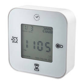 IKEA, KLOCKIS, Zegar / термометр / будильник / таймер, белый (80277004)(802.770.04) КЛОКИС ИКЕА
