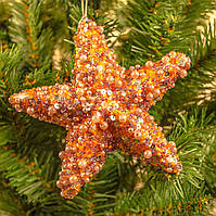 """Новогоднее украшение на елку """"Звезда в бисере"""""""