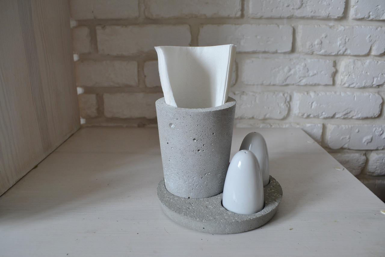 Салфетница из декоративного бетона + набор для специй - Майстерня Флори в  Луцке 56251fa92ac34