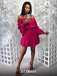 Женское хлопковое платье со спущенными плечиками, фото 2