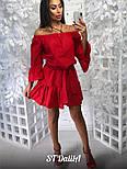 Женское хлопковое платье со спущенными плечиками, фото 4