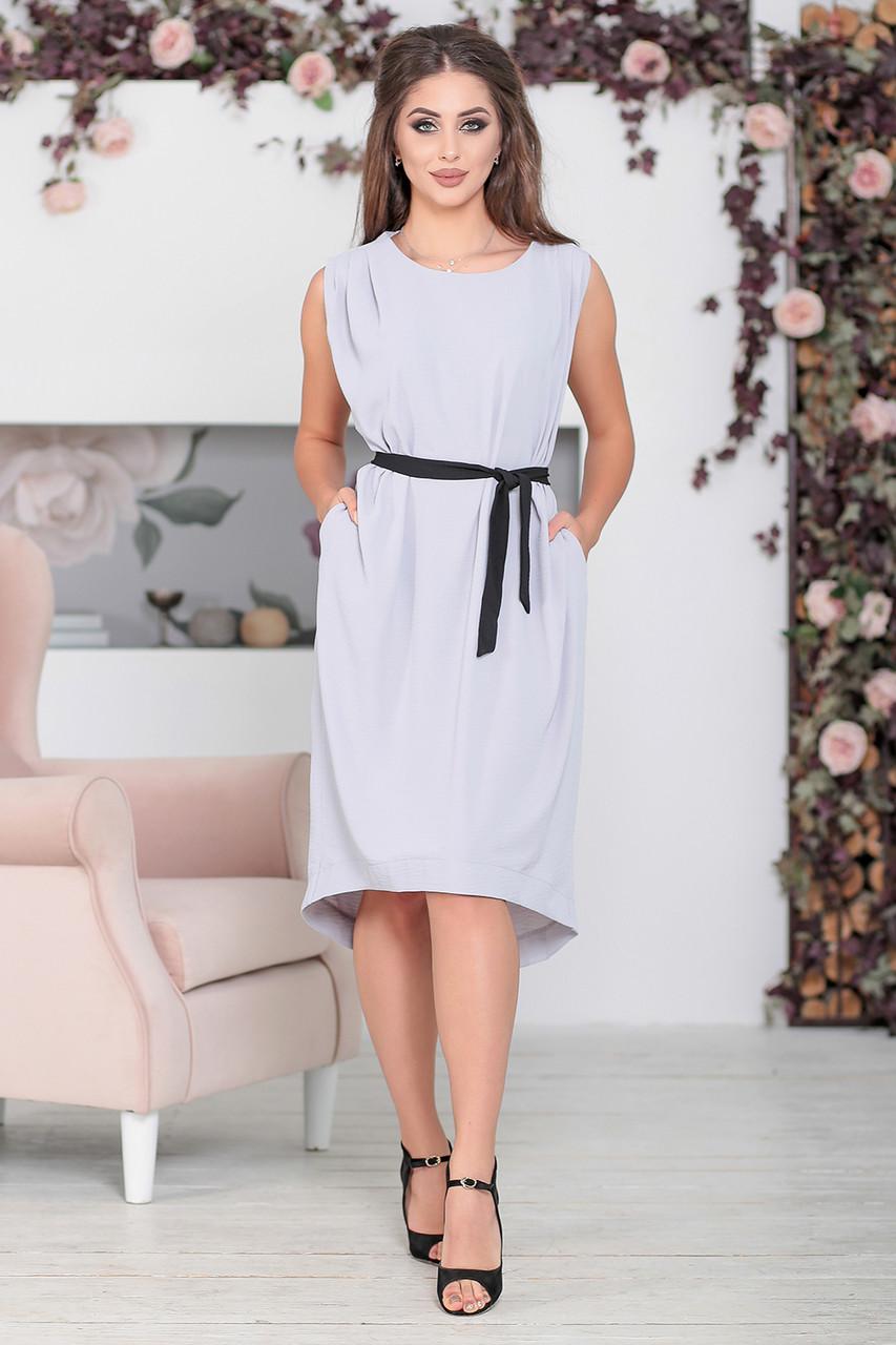 2b2e6e5ba9a8 Светло-серое платье Дайона - LILIT ODESSA - женская одежда - опт - розница в