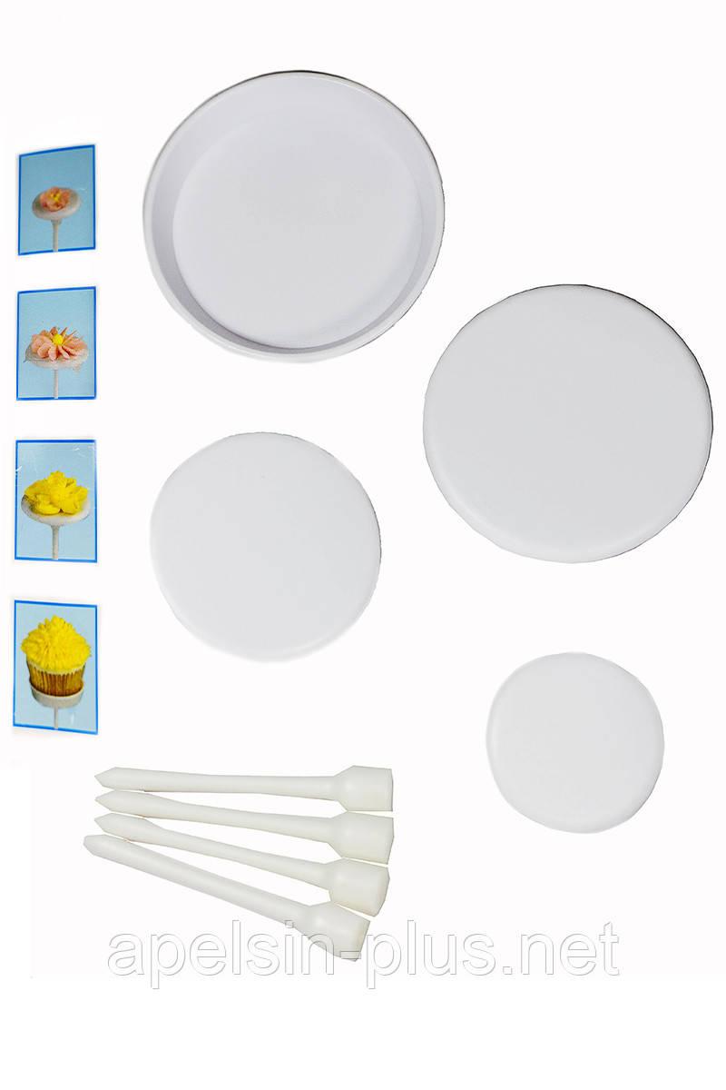 Набор кондитерских гвоздиков для моделирования цветов из крема из 4 штук