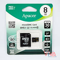 Карта памяти microSD Apacer 8 GB class 10 UHS-I U1 + Adapter