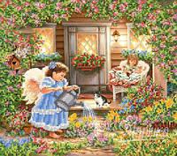 """Набор для вышивки бисером """"Подружки в саду"""" 26х29 см."""