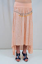 Модная длинная юбка на девочку из натуральной ткани