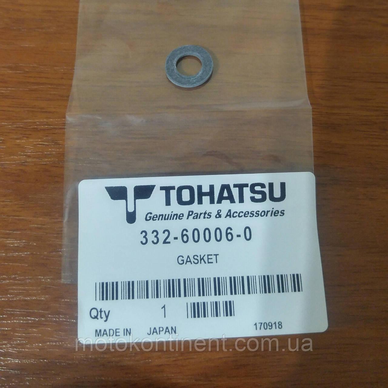 332-60006-0 Прокладка сливной/ заливной пробки редуктора Tohatsu