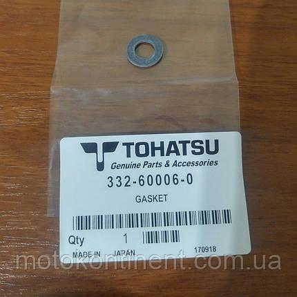 332-60006-0 Прокладка сливной/ заливной пробки редуктора Tohatsu, фото 2