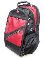 Рюкзак Swissgear с выходом USB, AUX и дождевиком, красный