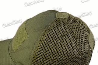 Бейсболка летняя тактическая из качественной 3D-сетки в классическом стиле оливковая, фото 3