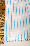 Полотенце-пештемаль пляжное Linea 90х170 бирюзовый Barine, фото 3
