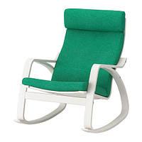 IKEA, POANG, Кресло-качалка, белая, ярко-зеленая (S992.444.62)(99244462) ПОАНГ, ИКЕА, ІКЕА, АЙКИА