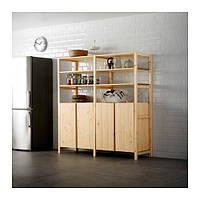IKEA, IVAR, 2 секции / полки / шкаф, сосна (99896373)(S998.963.73) ИВАР, ІВАР, ИКЕА, ІКЕА, АЙКИА