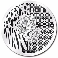 Стемпинг диск метал. малый круглый d=5.5cm BT 12 Biutee в конверте, фото 2