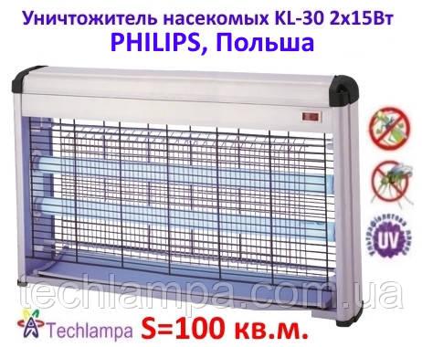 Уничтожитель насекомых KL-30 2х15Вт Philips, Польша