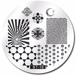 Стемпинг диск метал. малый круглый d=5.5cm BT 16 Biutee в конверте