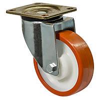 """Колесо поворотне серія 63 """"Medium"""" посилене з кріпильною панеллю, підшипник ковзання, діаметрр-80мм"""