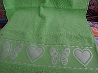 "Махровое полотенце Сауна ""Сердечки"", фото 1"