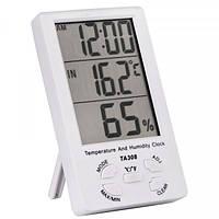 Термометр настольный TA308 3 в 1 термометр, влажность, часы