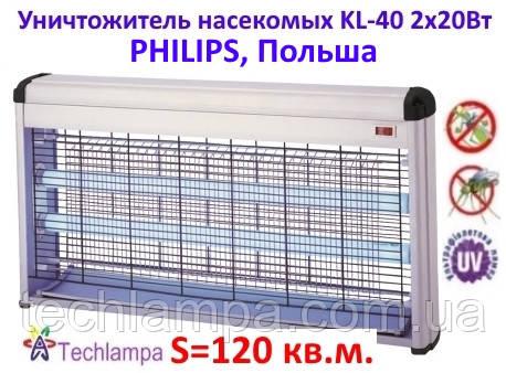 Уничтожитель насекомых KL-40 2х20Вт Philips, Польша
