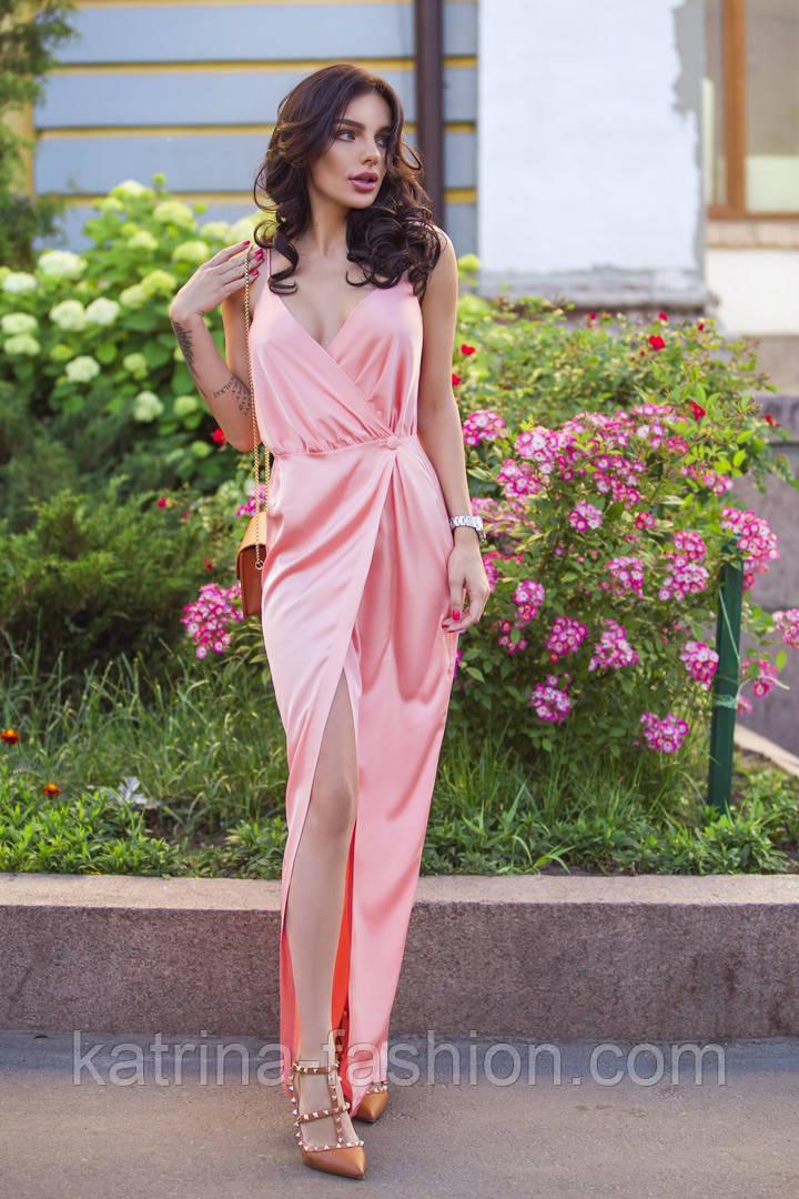Женское летнее шелковое платье (4 цвета)