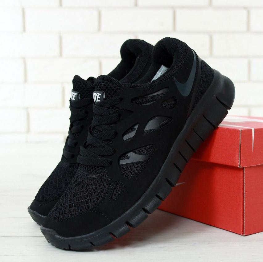 uk availability a71f2 978b2 Кроссовки в стиле Nike Free Run 2 Triple Black мужские - Интернет-магазин  «Reverie