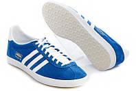 Кроссовки Adidas Gazelle OG (синие) нат.замша