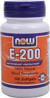 Now Foods Витамин Е 200  (d-альфа токоферол)  100 капс.