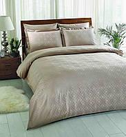 Комплект постельного белья 200х220 TAC Жаккард VISION кофейный