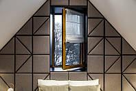 Цветное ламинированное окно Rehau нестандартного цвета, фото 1