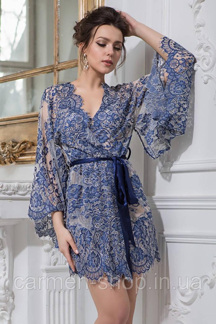 Короткий ажурный халат-кимоно Mia-Amore Мишель / Michelle 2103