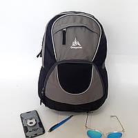 Городской надежный эрго рюкзак 25 л Onepolar W1674 серо-синий