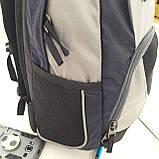 Городской надежный эрго рюкзак 25 л Onepolar W1674 серо-синий , фото 4