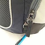 Городской надежный эрго рюкзак 25 л Onepolar W1674 серо-синий , фото 5