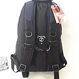 Городской надежный эрго рюкзак 25 л Onepolar W1674 серо-синий , фото 6